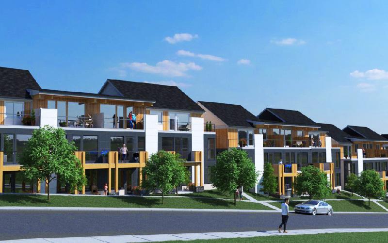 Promontory townhome in Kelowna rendering