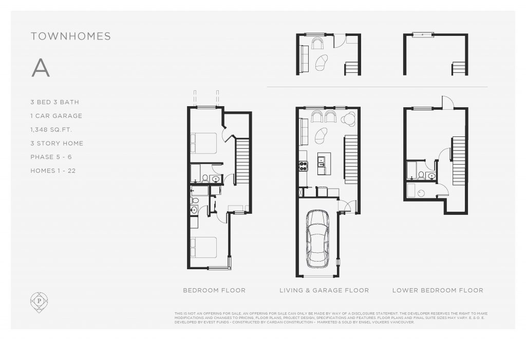Promontory townhouse floor plan