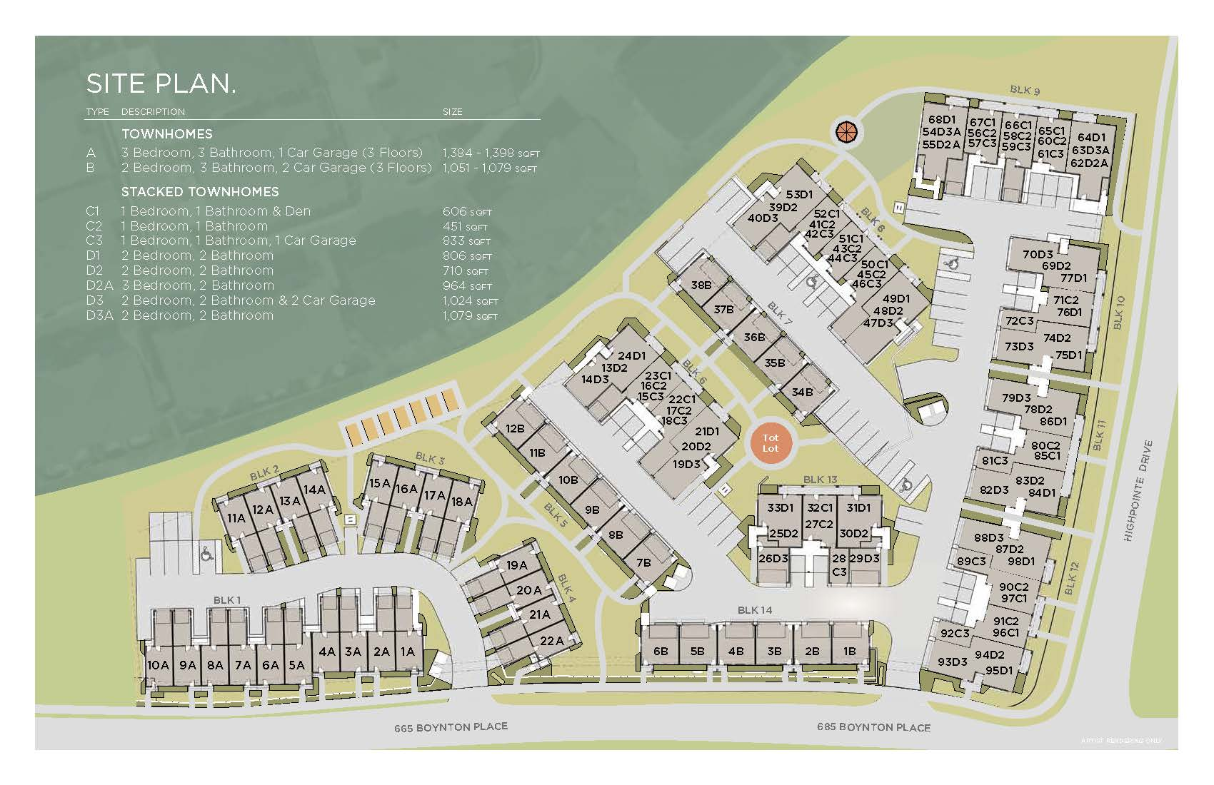 Promontory townhouses phasing plan