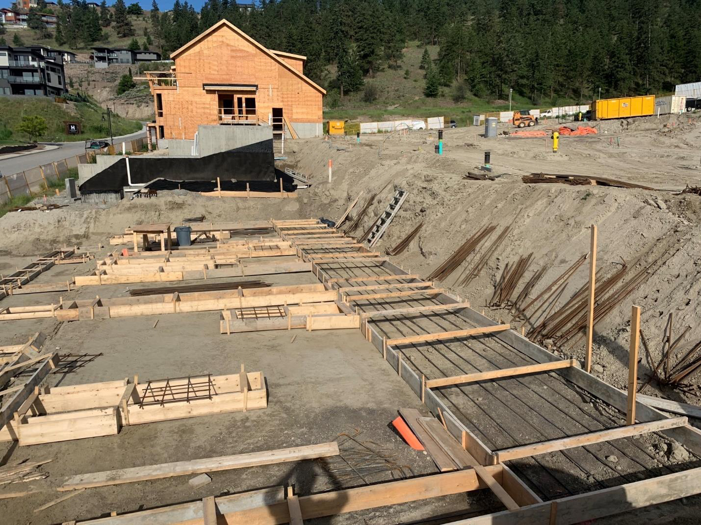 Block 10 footings – June 25, 2020